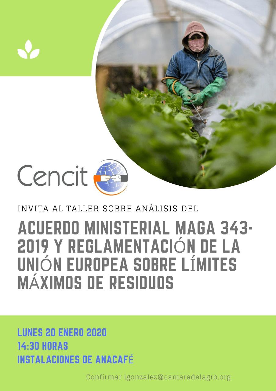 Acuerdo Ministerial MAGA 343-2019 y Reglamentación de la Unión Europea sobre los Límites Máximos de Residuos