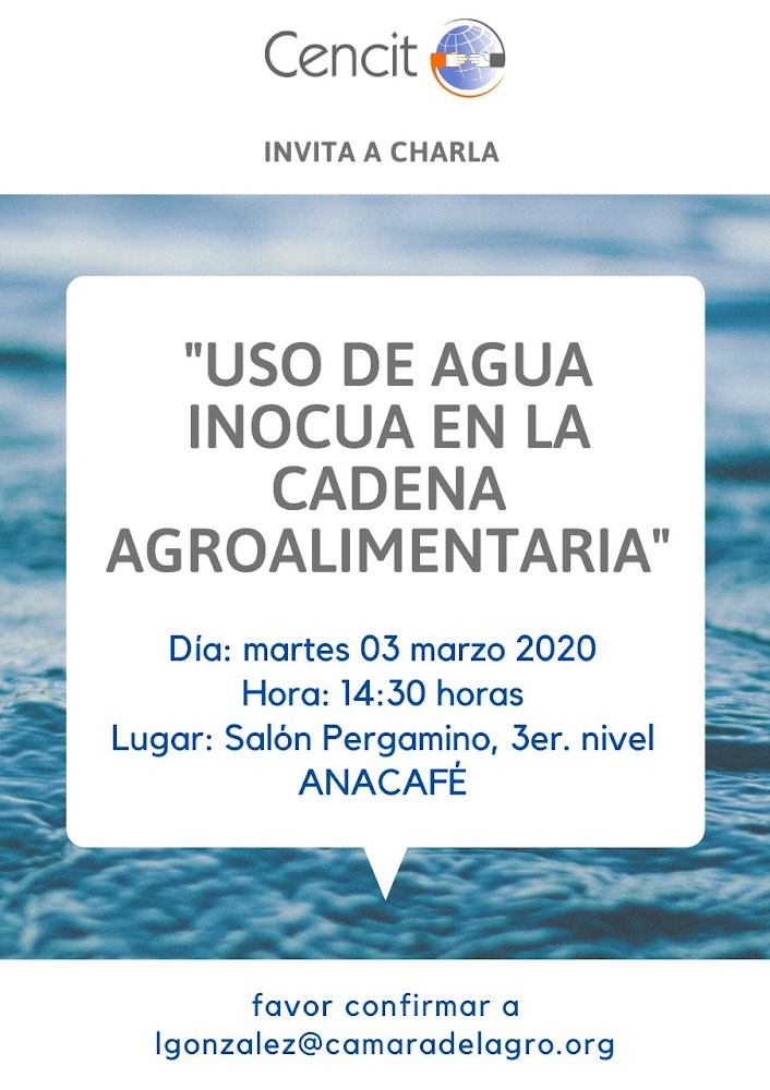 USO DE AGUA INOCUA EN LA CADENA AGROALIMENTARIA
